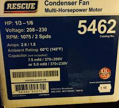 replacing emerson condenser fan motor rescue 5 wire capacitor not included image jpg views 6932 size 50 8 kb