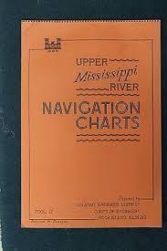 Mississippi River Navigation Charts 1966 Rock Island Il