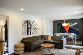 exclusive art work in the living creates visual contrast design owen homes