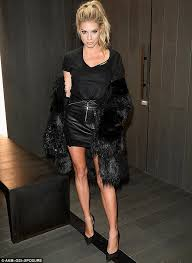 imperial in leather but charlotte mckinney s cowskin and fur look seemed incongruous at the launch