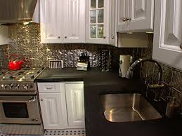 how to install ceiling tiles as a backsplash