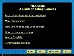 Ppt Mla Style A Guide To Citing Sources Powerpoint Presentation