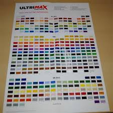 Ral Chart Ultrimax Wall Paint Colour Chart