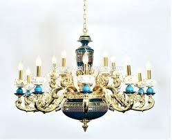 furniture stunning porcelain chandelier antique 14 european with gold plated brass carved arms arabic 6 lights