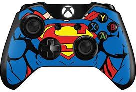 Xbox one console skin high quality vinyl with air escape adhesive printed at high resolutions with wide colour gamut inks over laminated for extra protection and durability uv, fade and touch wear resistant low initial tack until superman xbox one decal for xbox one console and 2 controllers. Amazon Com Skinit Decal Gaming Skin Compatible With Xbox One Controller Officially Licensed Warner Bros Superman Chest Design Camera Photo