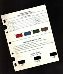 Details About 1970 Amc American Motors Interior Color Paint Chart Sample Chip Brochure Amx