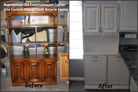 Kitchen Recycling Center My So Called Diy Blog Repurpose An Old Entertainment Center Into