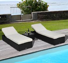 3pc rattan wicker chaise lounge chair set outdoor patio garden furniture pool3