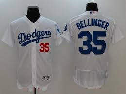 Home White Jersey Flex Base Los - Bellinger Dodgers Men's Angeles 35 Cody