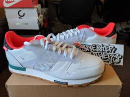 reebok classic leather altered white bright red teal green gum bottom dv5239