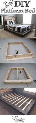 diy furniture project build an easy platform bed bedroom furniture project