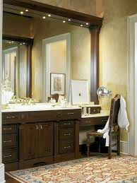 bathroom vanity table and chair. dual vanity with makeup counter houzz bathroom vanities area table and chair