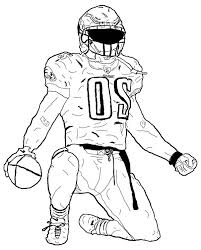 Football Players Coloring Pages Nfl Gallery Clip Art Library