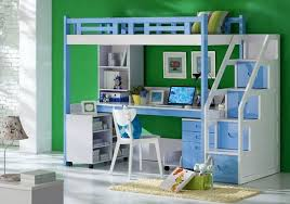 kids bunk bed with stairs. Contemporary Bed Blue White Kids Bunk Bed Sets With Desk And Stairs And Kids Bunk Bed With Stairs L