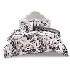 comforter sets full queen black white