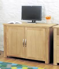 Desk Design Ideas, Aston Oak Hidden Computer Desk Contemporary Furniture  Home Office Hideaway Book Space