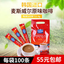 Maxwell house distinctive tasting instant white coffee. South Korea Imported Long Bag Original Maxwell Original Flavor Instant Coffee Three In One 100