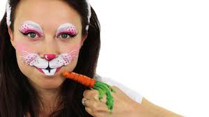 makeup easter bunny face painting tutorial