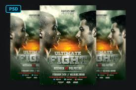 Although it is free of copyright restrictions, this image may still be subject to other restrictions. Boxing Mma Poster Template 413101 Flyers Design Bundles