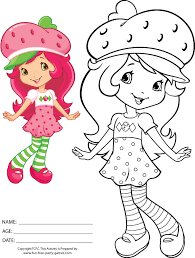 Small Picture Strawberry Shortcake Coloring Pages Strike a Pose
