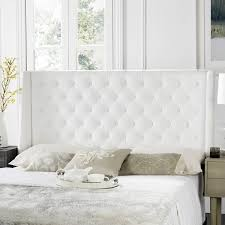 white tufted headboard. Fine Headboard Safavieh London White Tufted Winged Headboard Queen Inside K