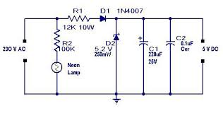 dc circuit diagram the wiring diagram transformerless power supply circuit ouputs 5 volt dc circuit diagram