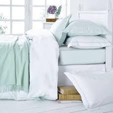 more views mint green gingham bed linen