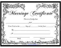 Certificates Printable Victorian Free Printable Marriage Certificates In 2019