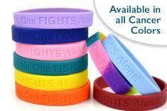 no one fights alone wristband