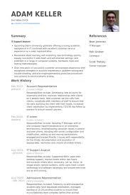 Account Representative Resume Samples Visualcv Resume Samples Database