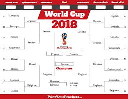 World Cup Tournament Bracket Printable Fifa Schedule 2018