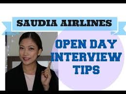 flight attendant interview tips saudia airlines open day tips video flight attendant interview