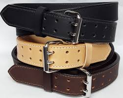 double holed leather belts are 2 ply heavy duty 1 3 4 wide 100