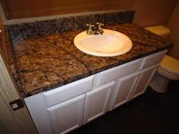 DIY Faux Granite Countertop Without A Kit For Under  Faux - Granite countertops for bathroom
