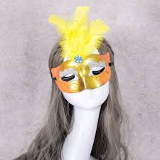 Mask Decorating Supplies 100pcslot Multi Color Halloween LED Feather Mask Party Flash Mask 88