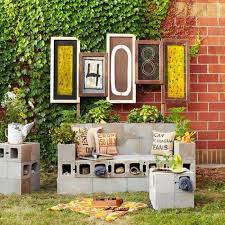 cinder block furniture. Perfect Furniture Cinder Block Furniture To A