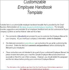 Staff Manual Template Simple Handbook Layout Template Richtravel