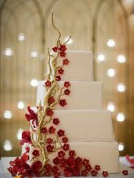 Top Red Gold Cakes Cakecentralcom