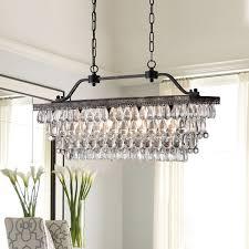 rectangular shade pendant light best of antique bronze rectangular crystal chandelier dining room ceiling
