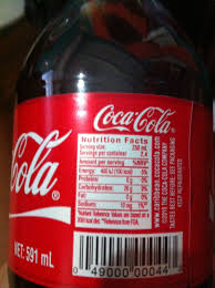 Coca Cola Nutrition Chart Coca Cola Drink Of The Gods Biochemology