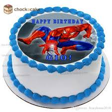 2019 Spider Man Birthday Cake Topper For Baby Boy Wafer Paper For