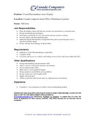 Visual Merchandiser Resume Samples Awesome Visualandiser Job