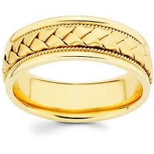 14k Gold 8 Mm Hand Braided Comfort Fit Wedding Band Size 9 12 5