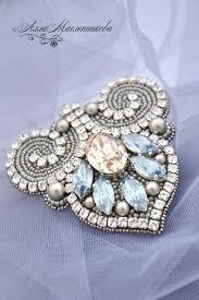 Брошь-<b>кулон</b> 'Зимняя лилия' с кристаллами и жемчугом <b>Swarovski</b> ...