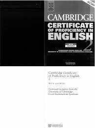 Cambridge Cpe Certificate Of Proficiency In English 2