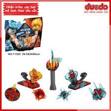 LARI 11325 Lắp ghép Ninjago Spinjitzu Slam Kai và Samurai - Đồ chơi Xếp  hình Mô hình Con quay lốc xoáy Ninja BELA 70684