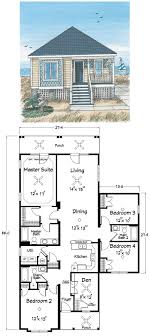 2 Bedroom 2 Bath Coastal House Plan  ALP02MY  AllplanscomBeach Cottage Floor Plans