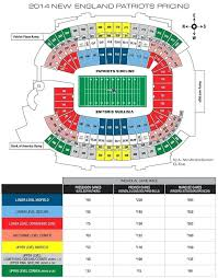 Gillete Stadium Seating Chart Parking Map Gillette View