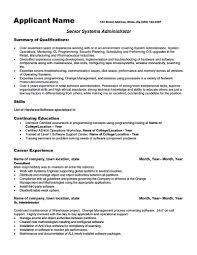 System Administrator Resume Resume For Your Job Application