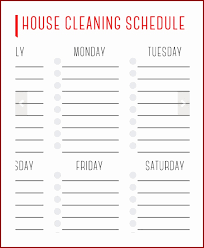 monthly house cleaning schedule template chore chart template excel excellent free printable charts templates